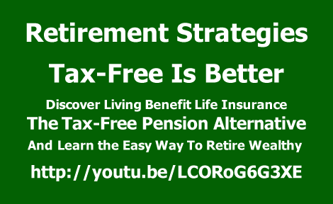 Learn the easy way to retire wealthy with The Tax-Free Pension Alternative.